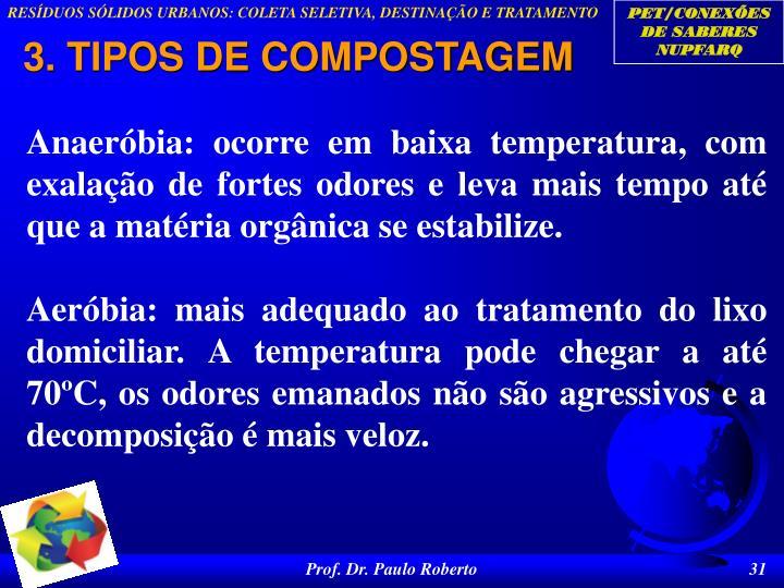 3. TIPOS DE COMPOSTAGEM