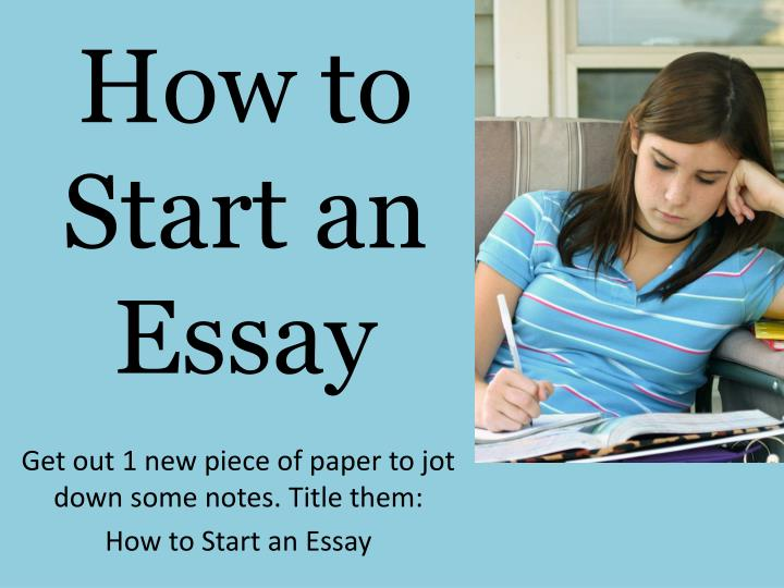 how to start a good essay A classic format for compositions is the five-paragraph essay it is not the only format for writing an essay, of course, but it is a useful model for you to keep in mind, especially as you begin to develop your composition skills.