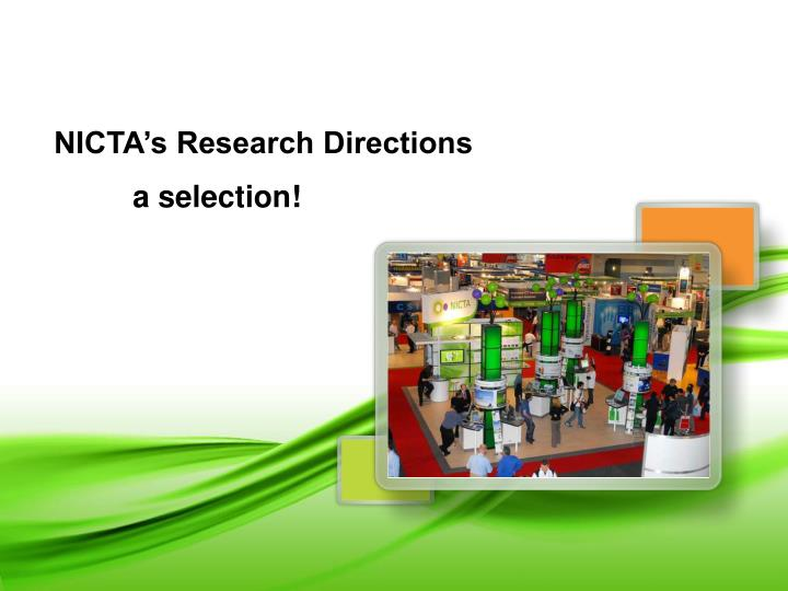 NICTA's Research Directions