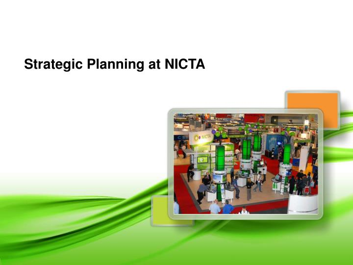 Strategic Planning at NICTA
