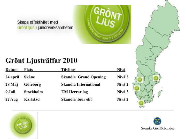 Grönt Ljusträffar 2010