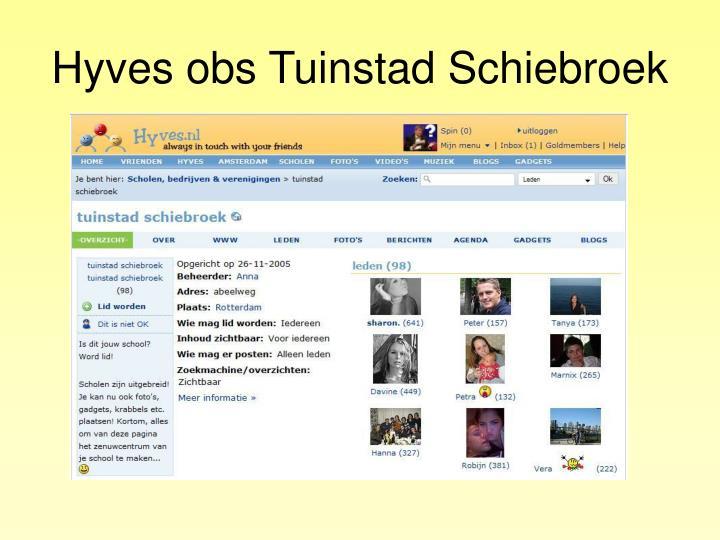 Hyves obs Tuinstad Schiebroek