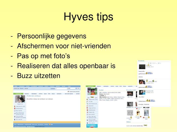 Hyves tips