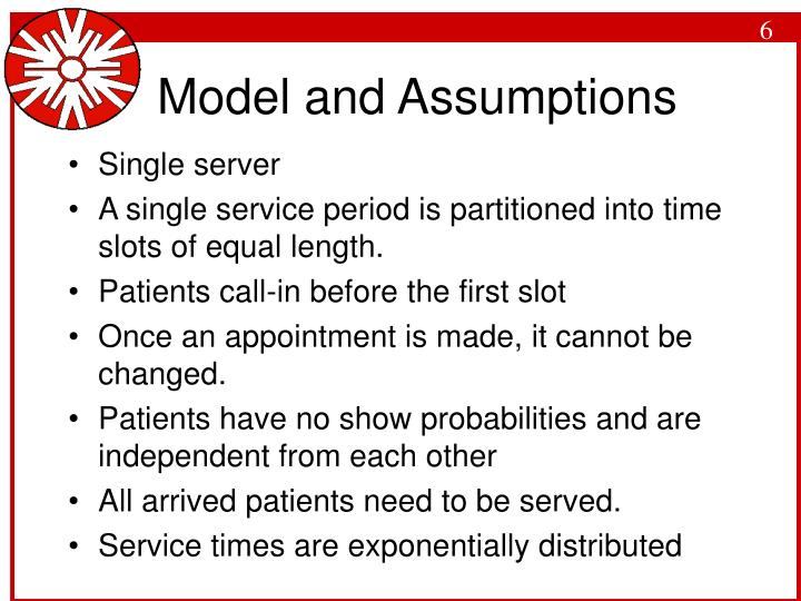 Model and Assumptions