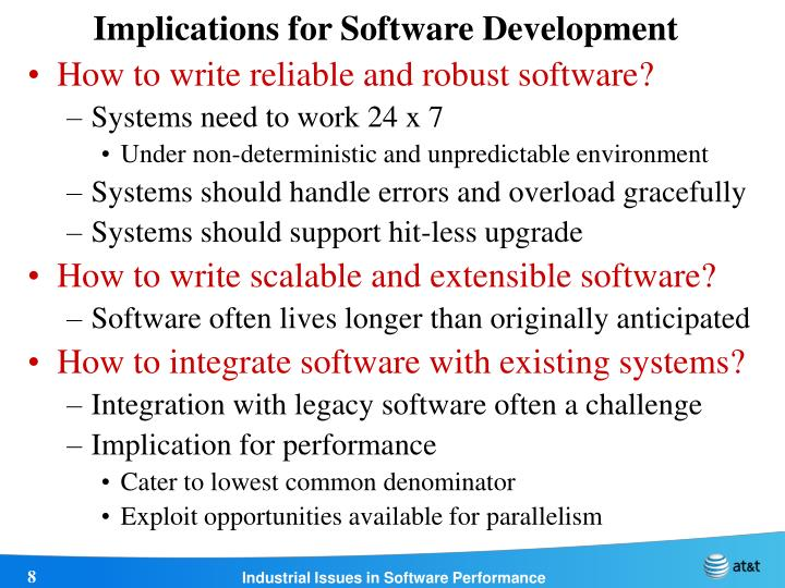 Implications for Software Development