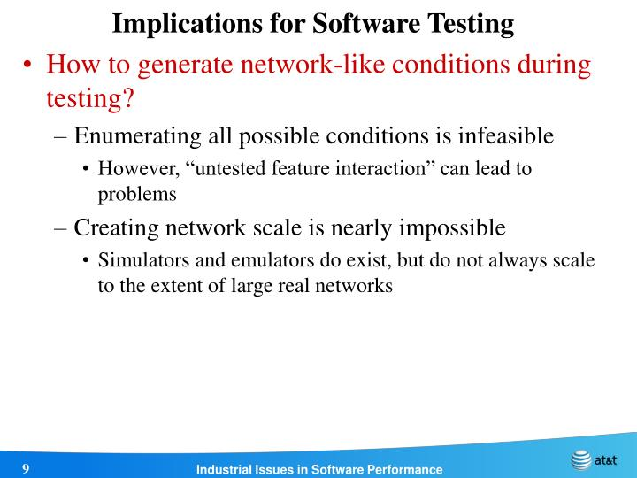 Implications for Software Testing