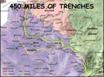 450 miles of trenches