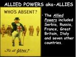 allied powers aka allies