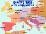 europe 1918 after world war one