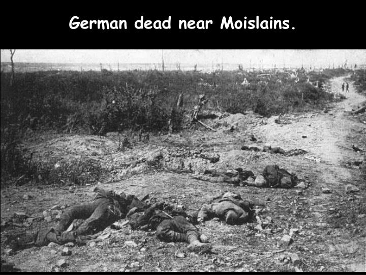 German dead near Moislains.