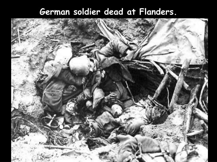 German soldier dead at Flanders.