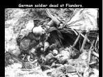 german soldier dead at flanders
