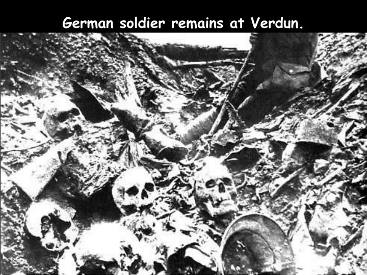 German soldier remains at Verdun.