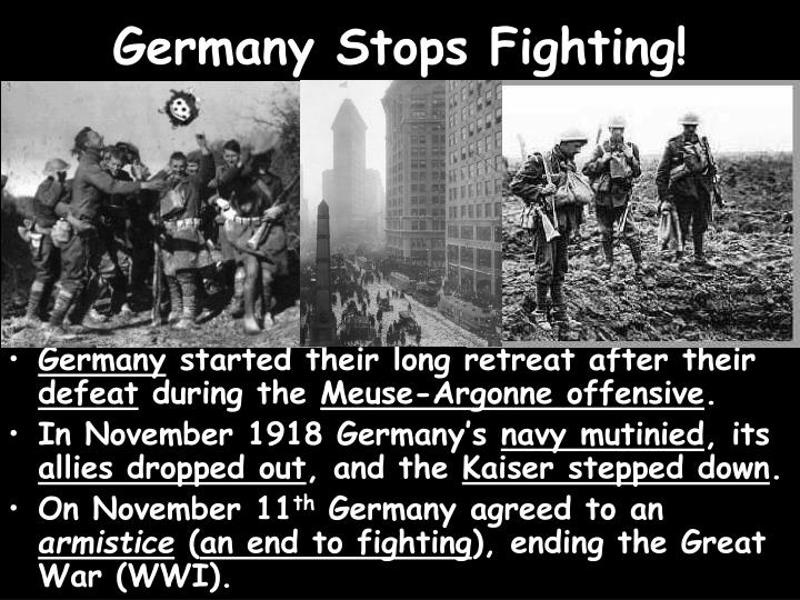 Germany Stops Fighting!