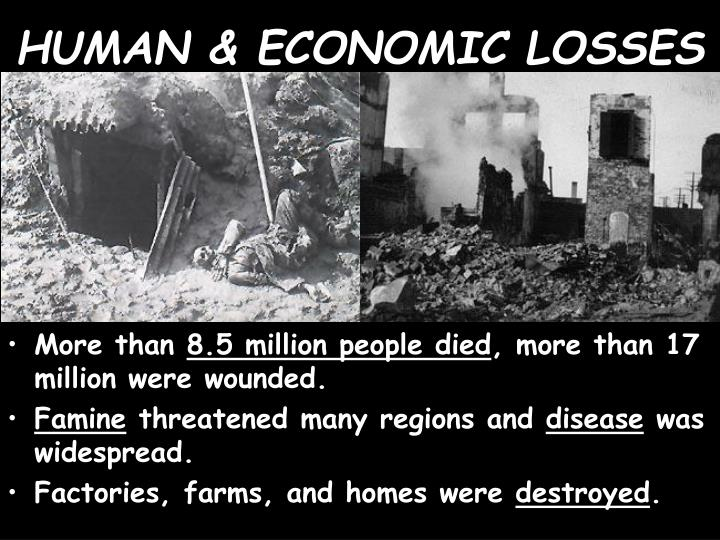 HUMAN & ECONOMIC LOSSES