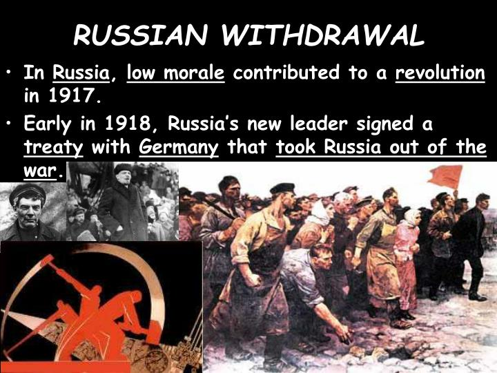 RUSSIAN WITHDRAWAL