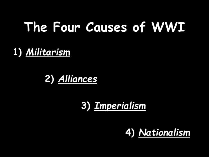 The Four Causes of WWI