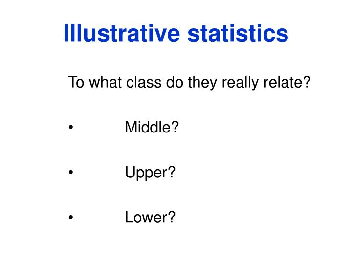 Illustrative statistics