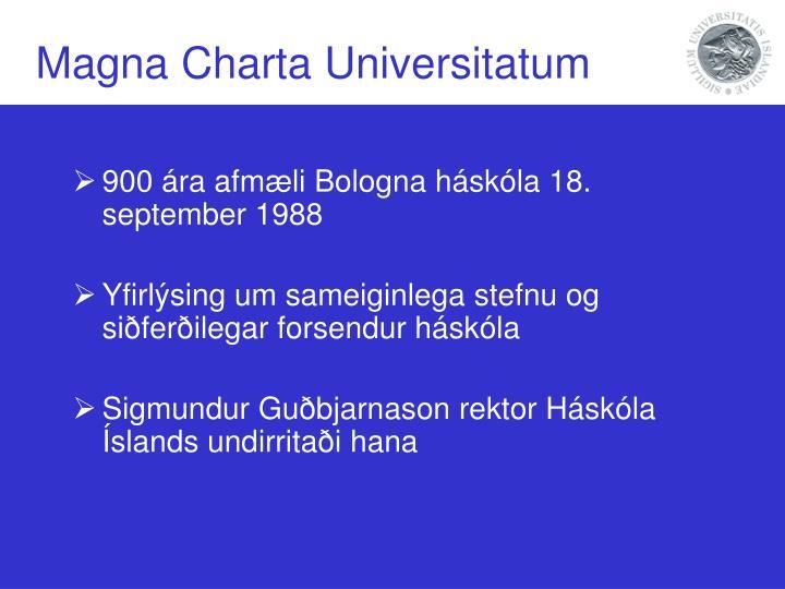 Magna Charta Universitatum