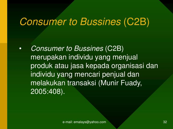 Consumer to Bussines