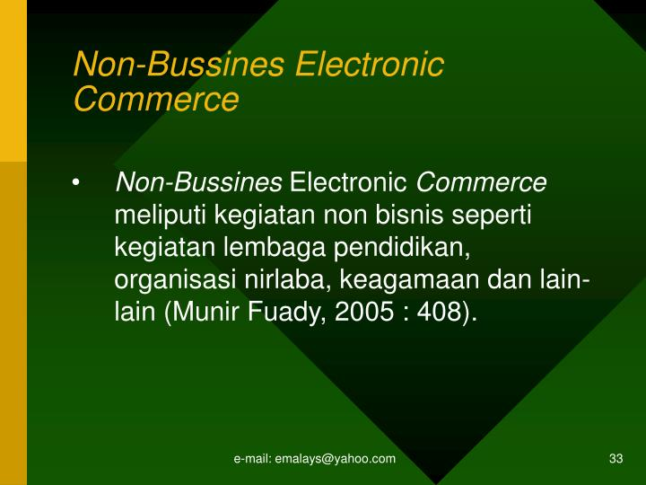 Non-Bussines Electronic Commerce