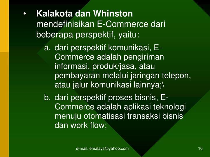 Kalakota dan Whinston