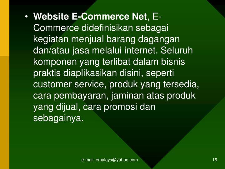 Website E-Commerce Net