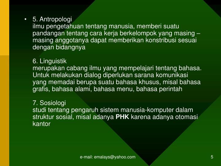 5. Antropologi