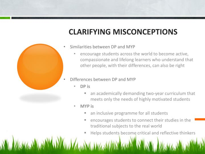 Clarifying misconceptions