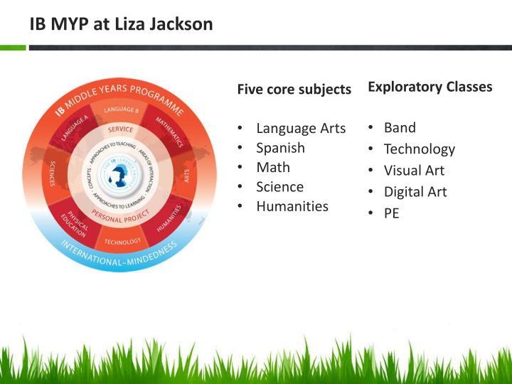 IB MYP at Liza Jackson