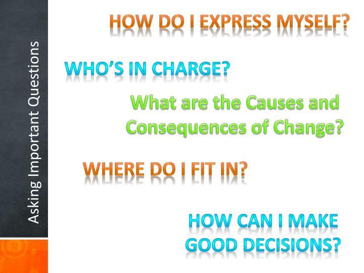 How Do I Express Myself?