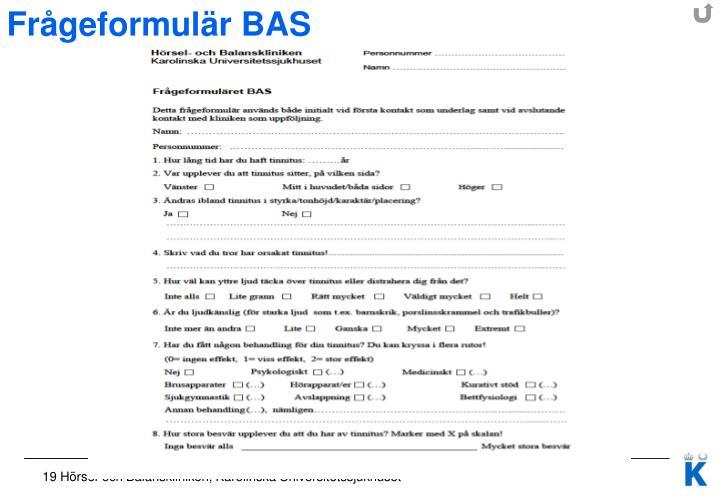 Frågeformulär BAS