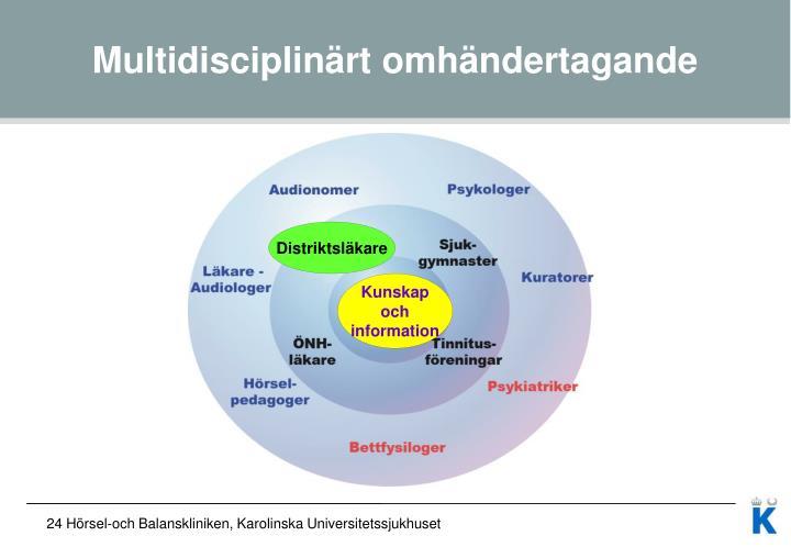 Multidisciplinärt omhändertagande