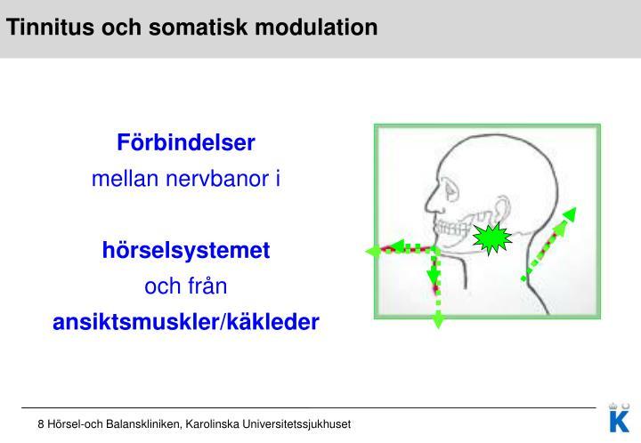 Tinnitus och somatisk modulation
