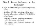 step 3 record the speech on the computer