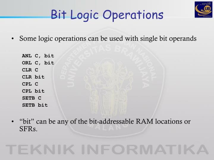 Bit Logic Operations