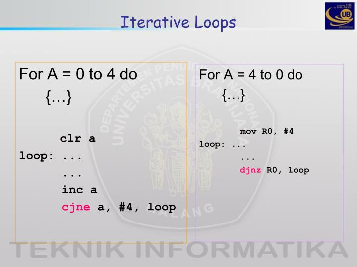 Iterative Loops
