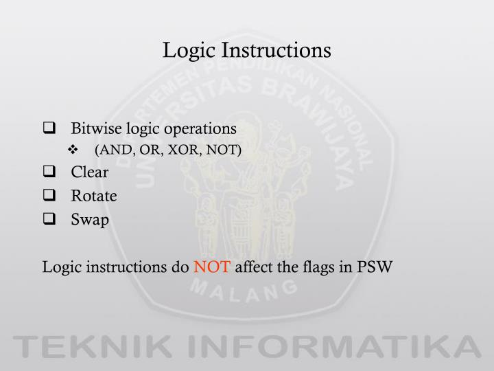 Logic Instructions