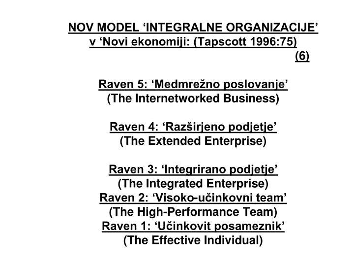 NOV MODEL 'INTEGRALNE ORGANIZACIJE'