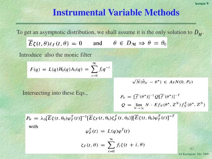 Instrumental Variable Methods