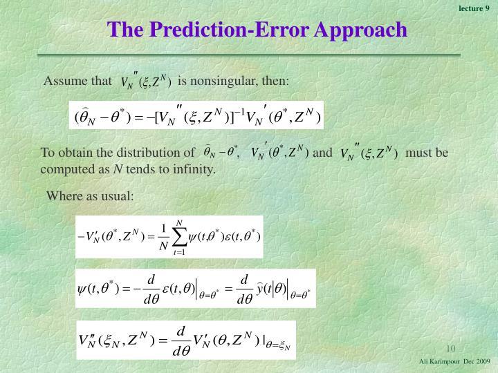 The Prediction-Error Approach
