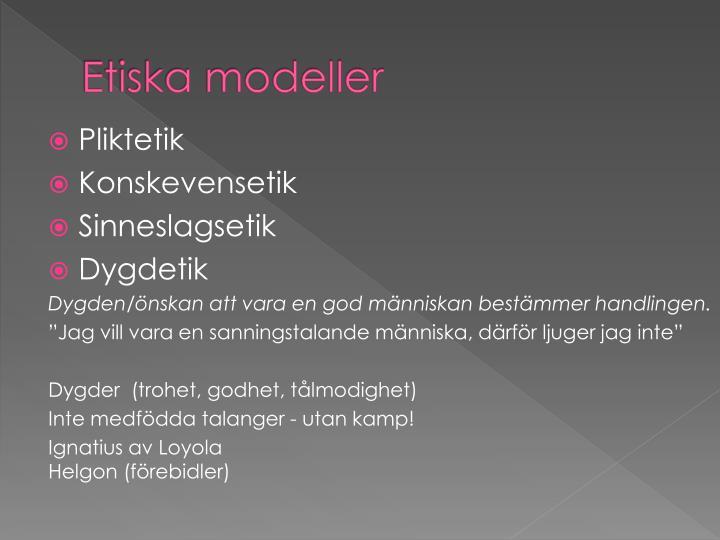 Etiska modeller