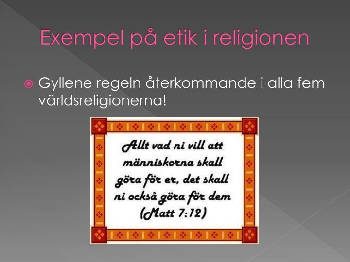 Exempel på etik i religionen