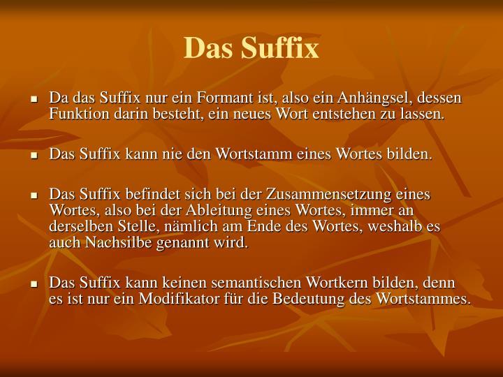 Das Suffix