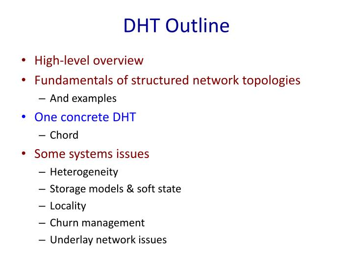 DHT Outline