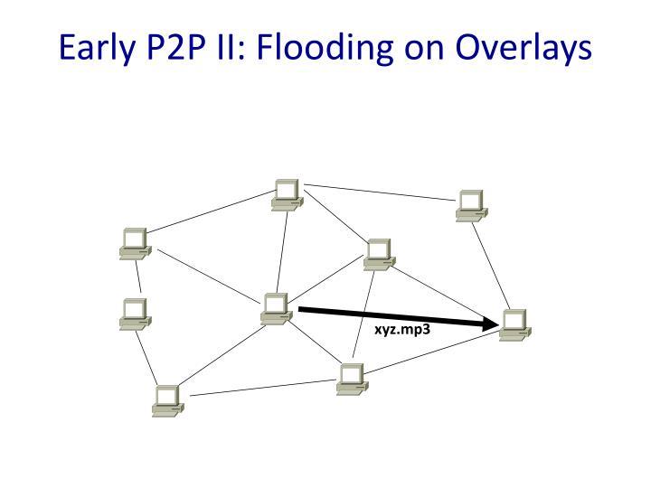 Early P2P II: Flooding on Overlays