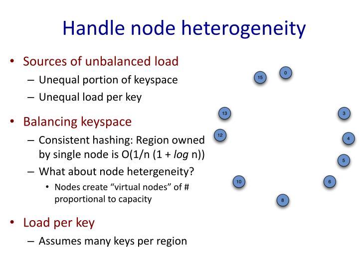 Handle node heterogeneity