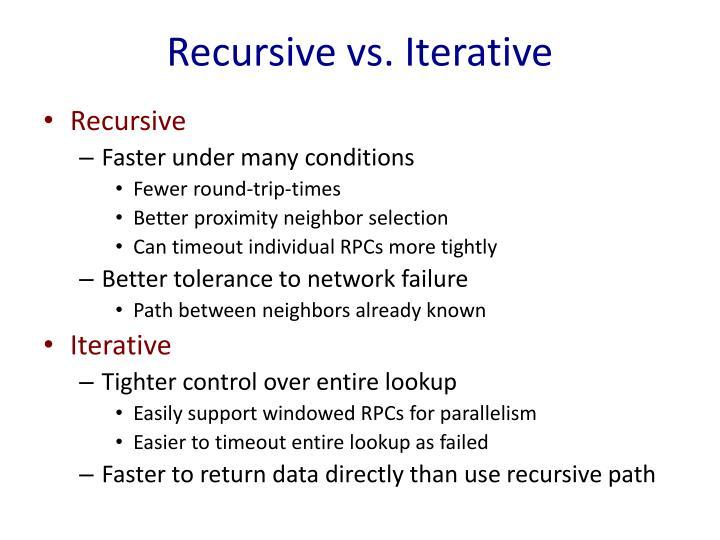 Recursive vs. Iterative