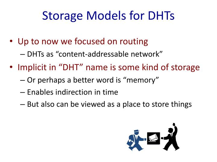 Storage Models for DHTs
