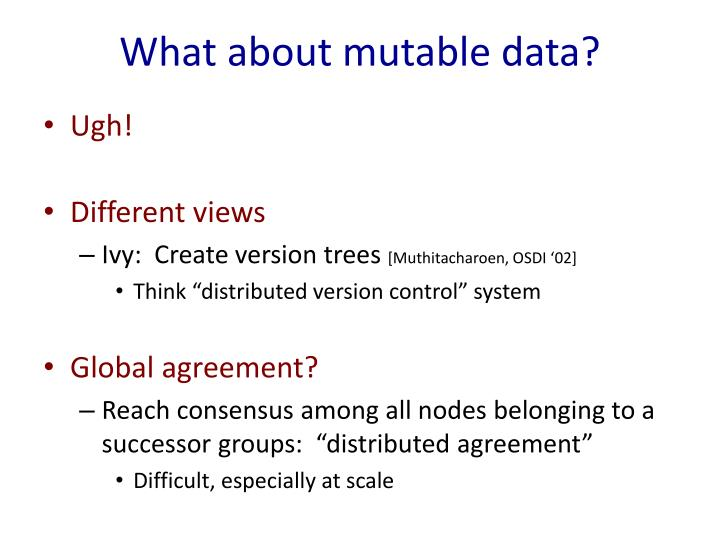 What about mutable data?
